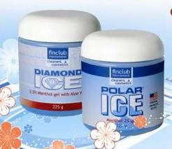 masážní gel polar ice gel, diamond ice gel lander